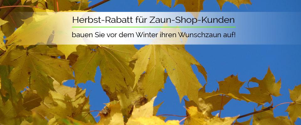 Zaun-Shop.de - Herbst-Rabatt